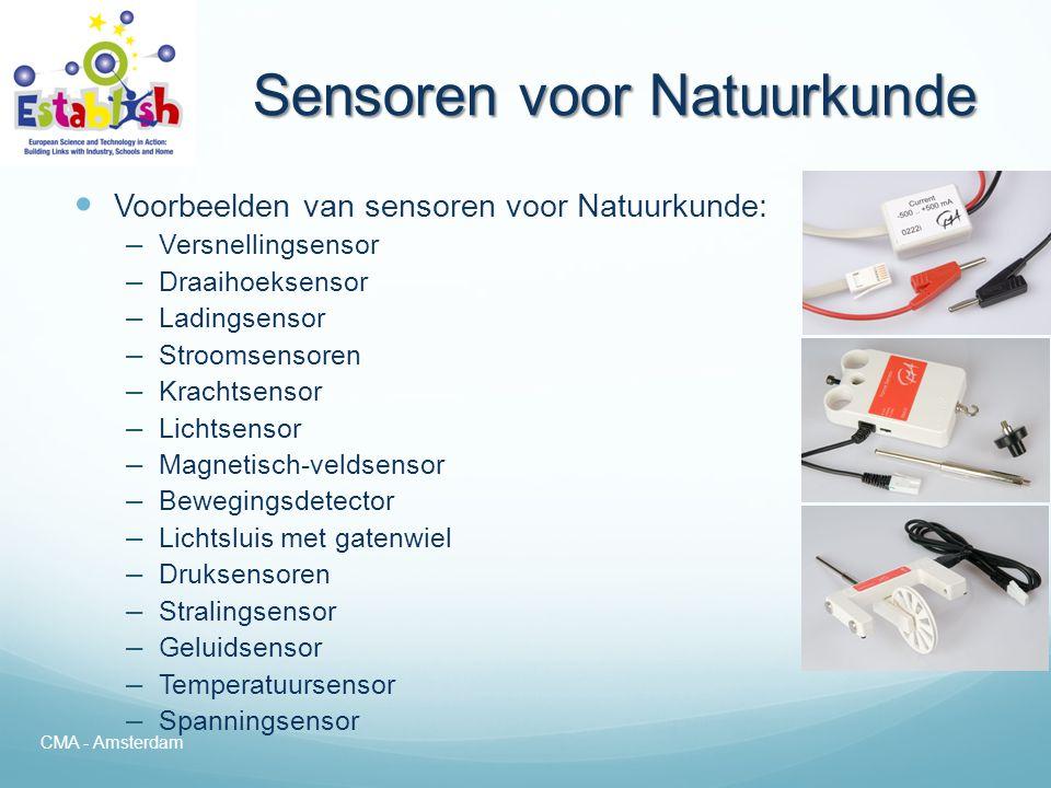 Sensoren voor Natuurkunde
