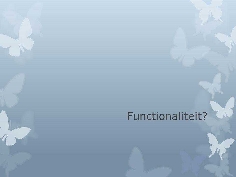 Functionaliteit
