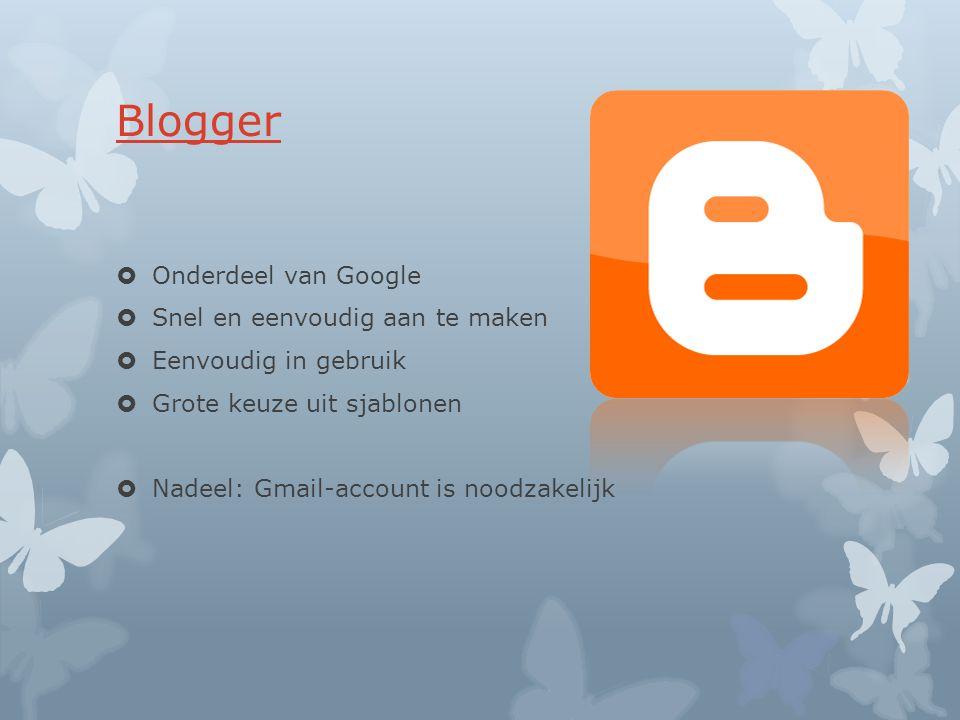 Blogger Onderdeel van Google Snel en eenvoudig aan te maken