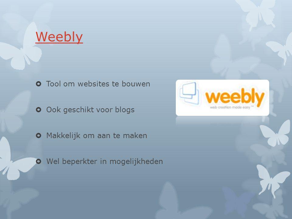 Weebly Tool om websites te bouwen Ook geschikt voor blogs