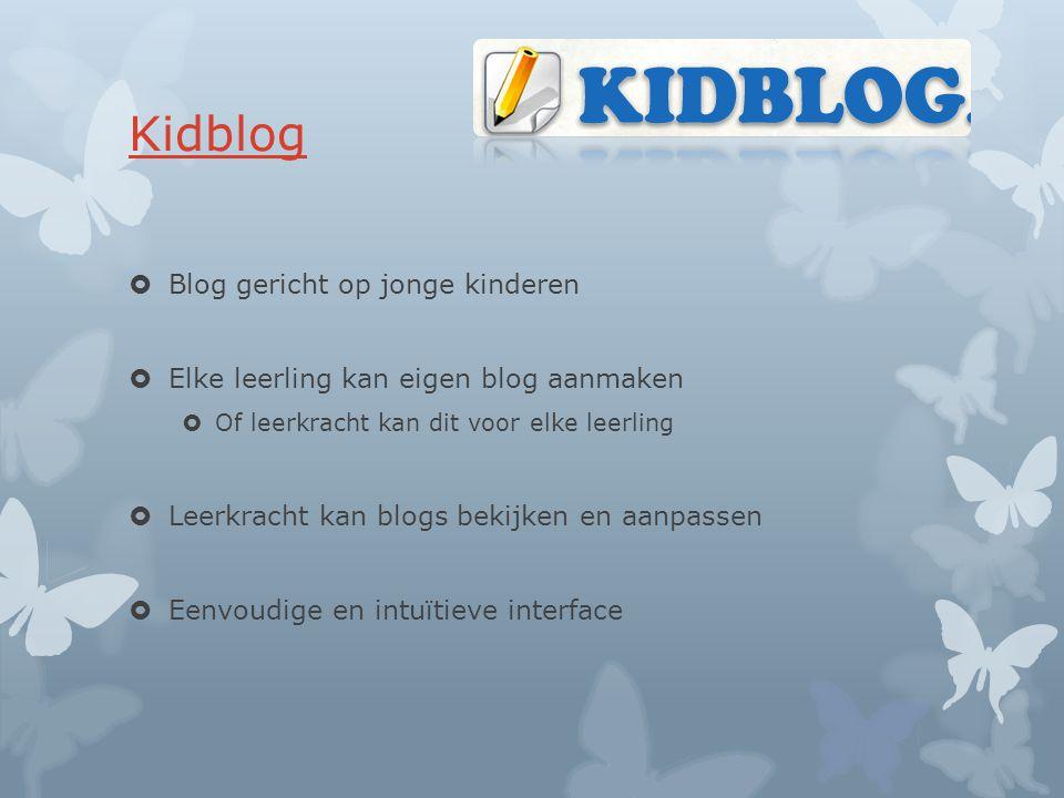 Kidblog Blog gericht op jonge kinderen