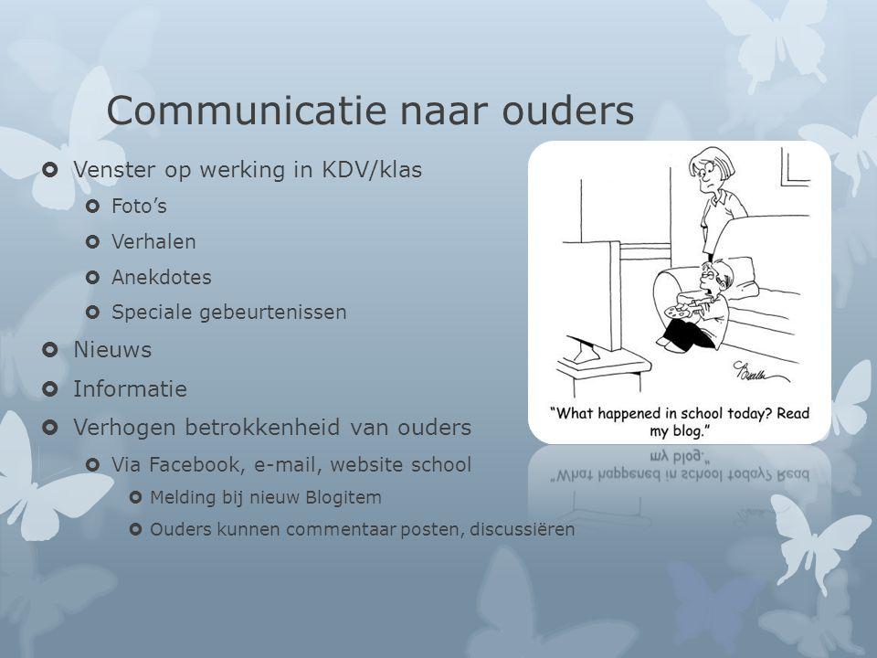 Communicatie naar ouders