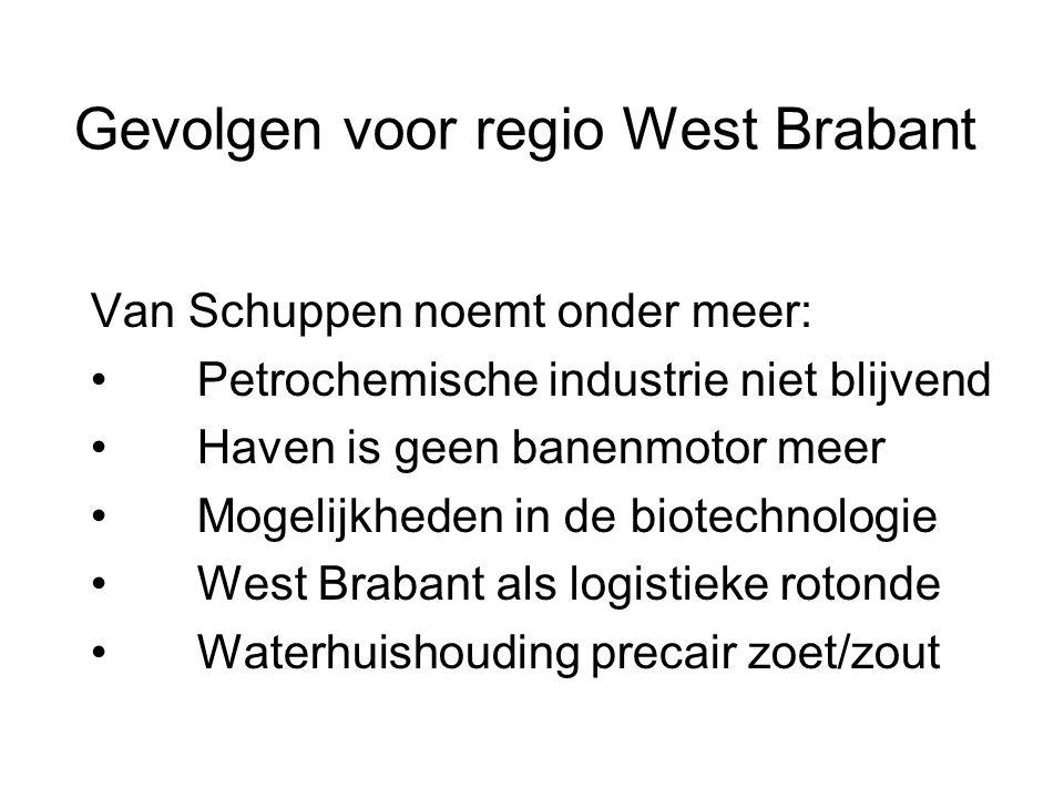 Gevolgen voor regio West Brabant