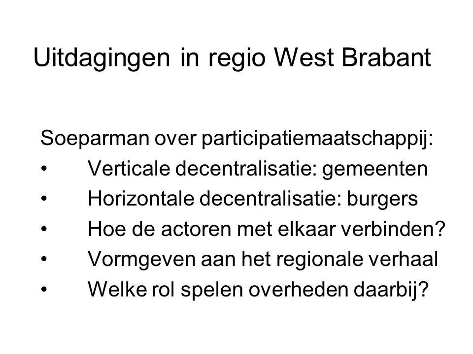 Uitdagingen in regio West Brabant