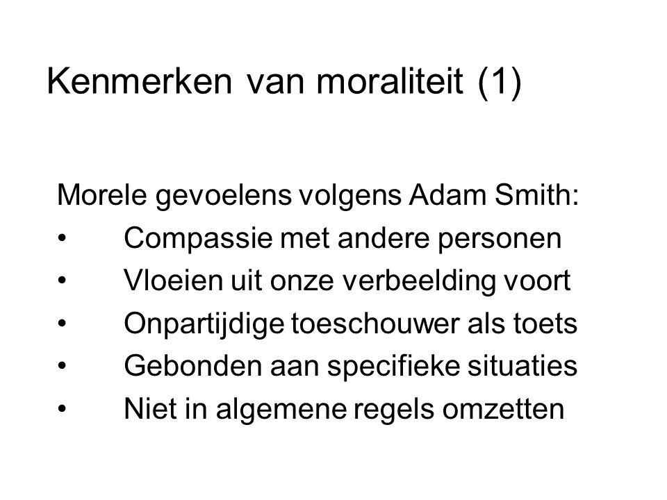 Kenmerken van moraliteit (1)