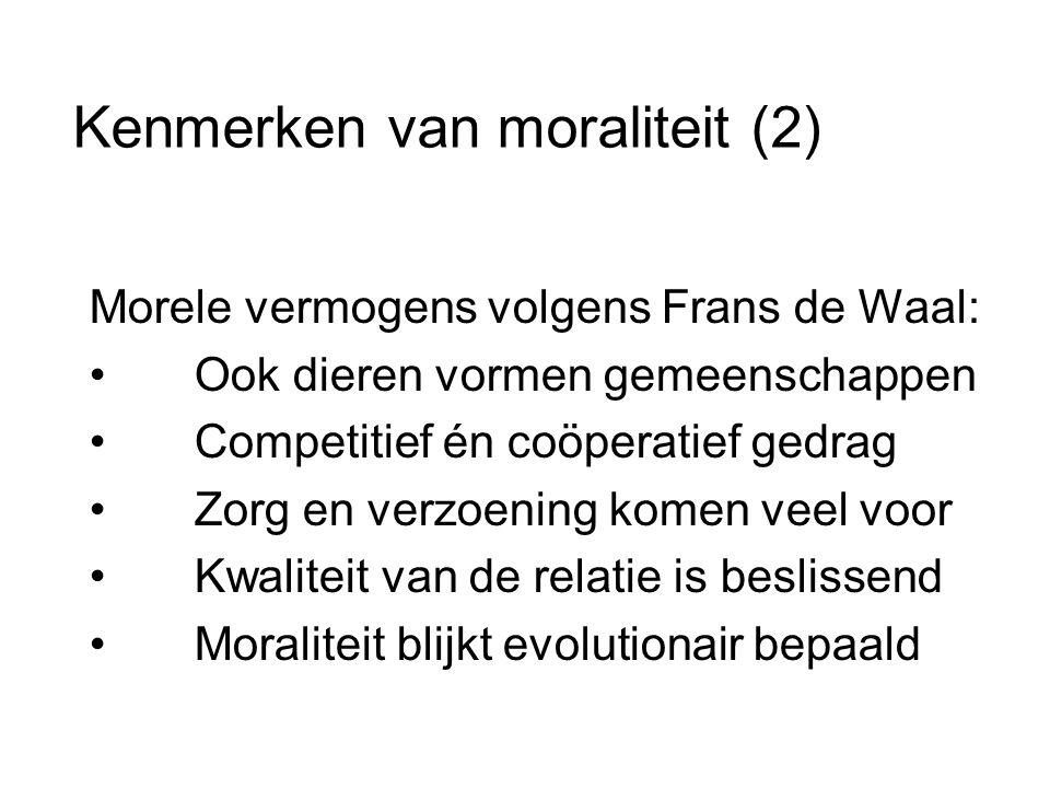 Kenmerken van moraliteit (2)