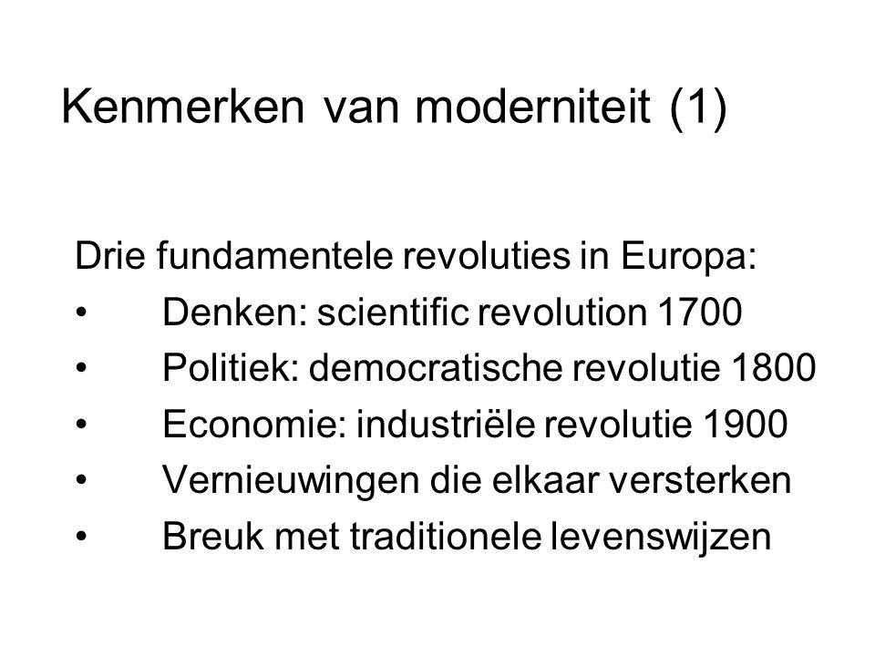 Kenmerken van moderniteit (1)