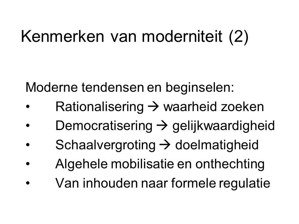 Kenmerken van moderniteit (2)