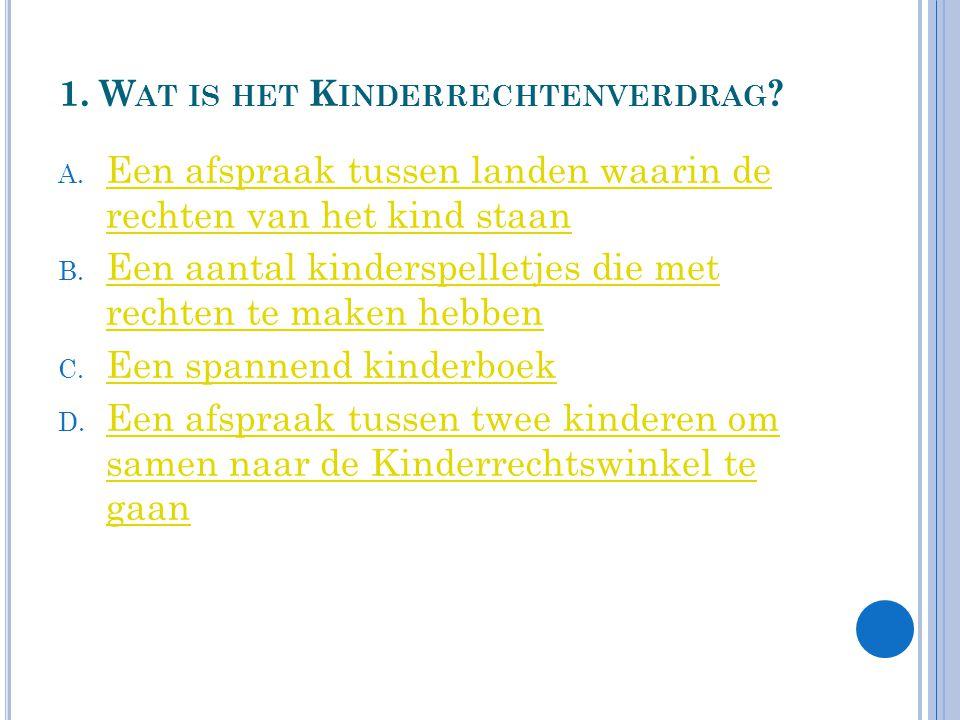 1. Wat is het Kinderrechtenverdrag