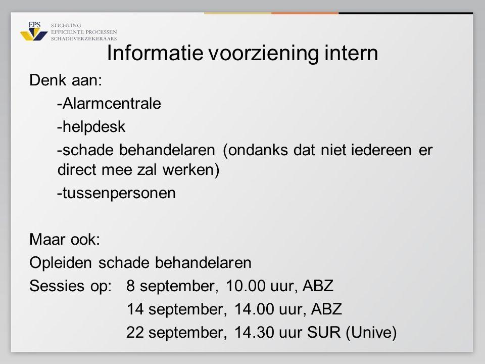Informatie voorziening intern
