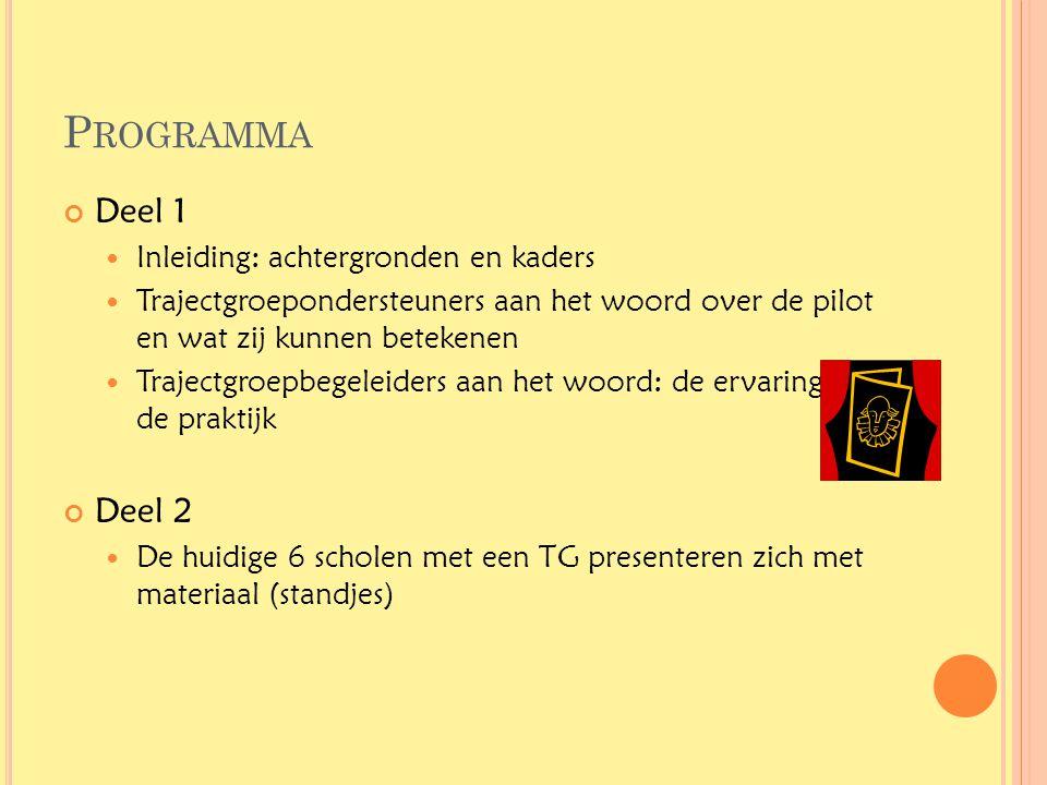Programma Deel 1 Deel 2 Inleiding: achtergronden en kaders