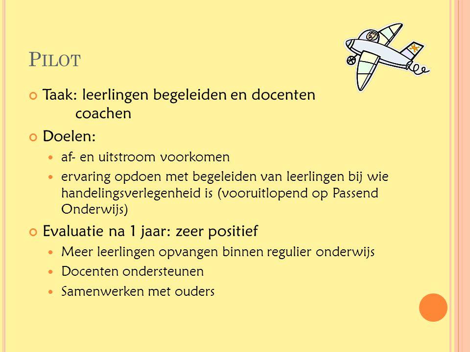 Pilot Taak: leerlingen begeleiden en docenten coachen Doelen:
