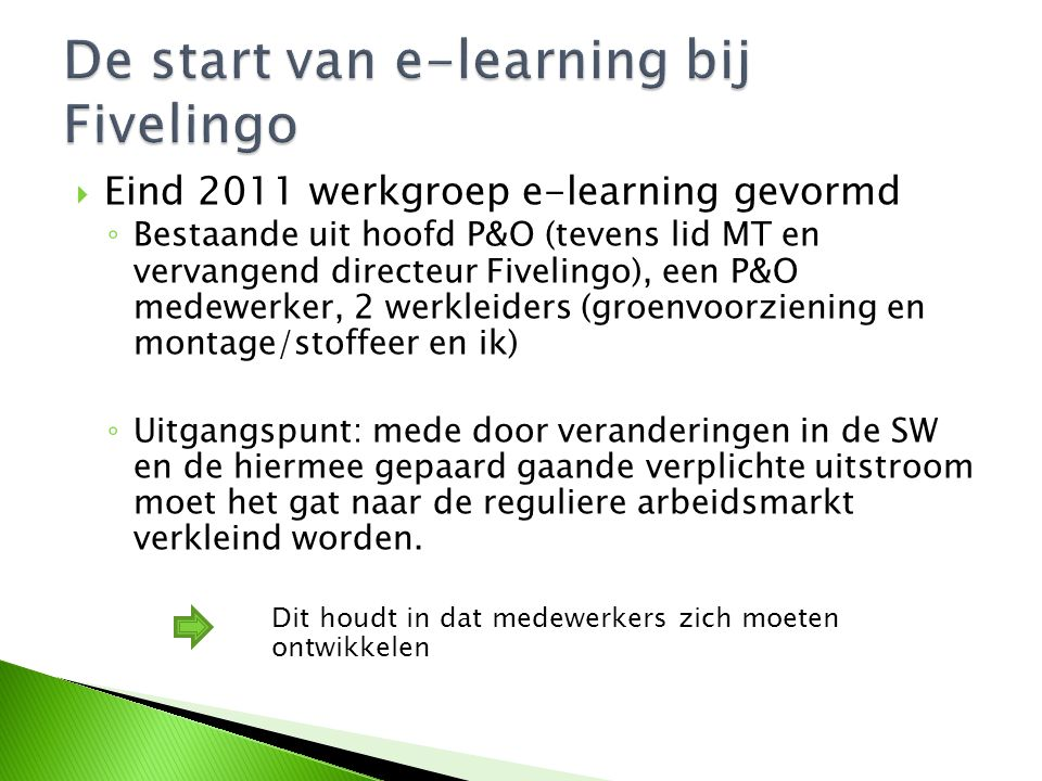 De start van e-learning bij Fivelingo