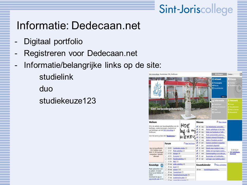Informatie: Dedecaan.net