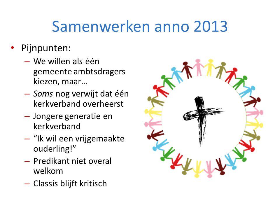 Samenwerken anno 2013 Pijnpunten: