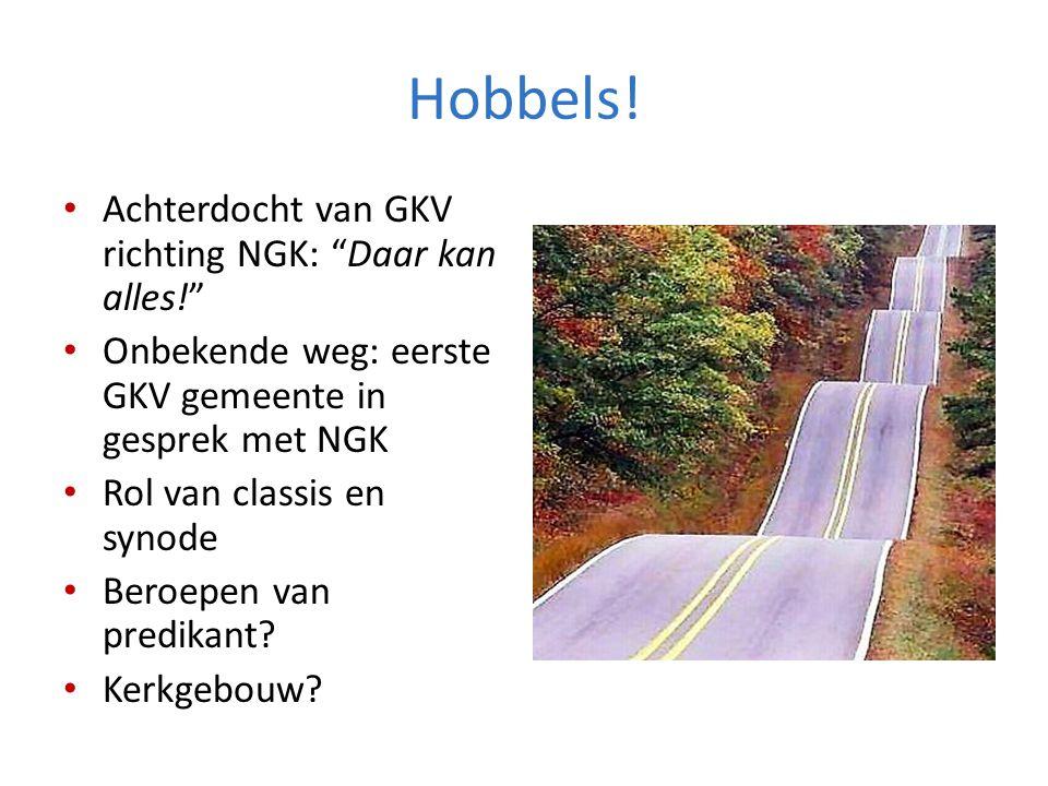 Hobbels! Achterdocht van GKV richting NGK: Daar kan alles!