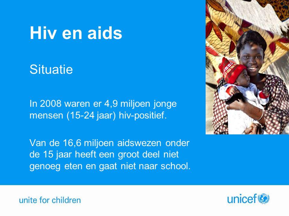 Hiv en aids Situatie. In 2008 waren er 4,9 miljoen jonge mensen (15-24 jaar) hiv-positief.