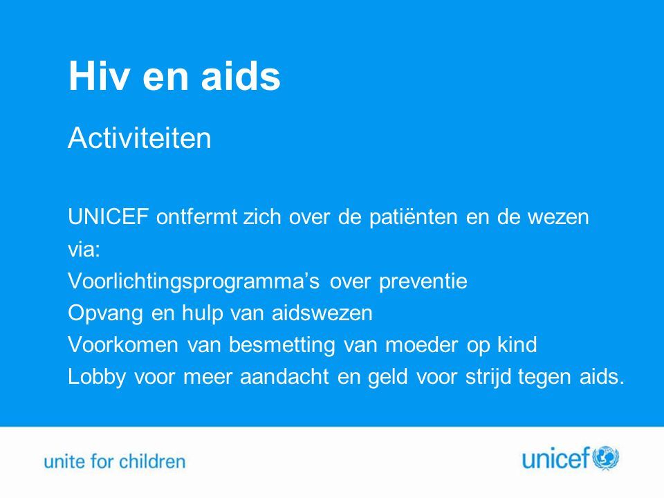 Hiv en aids Activiteiten