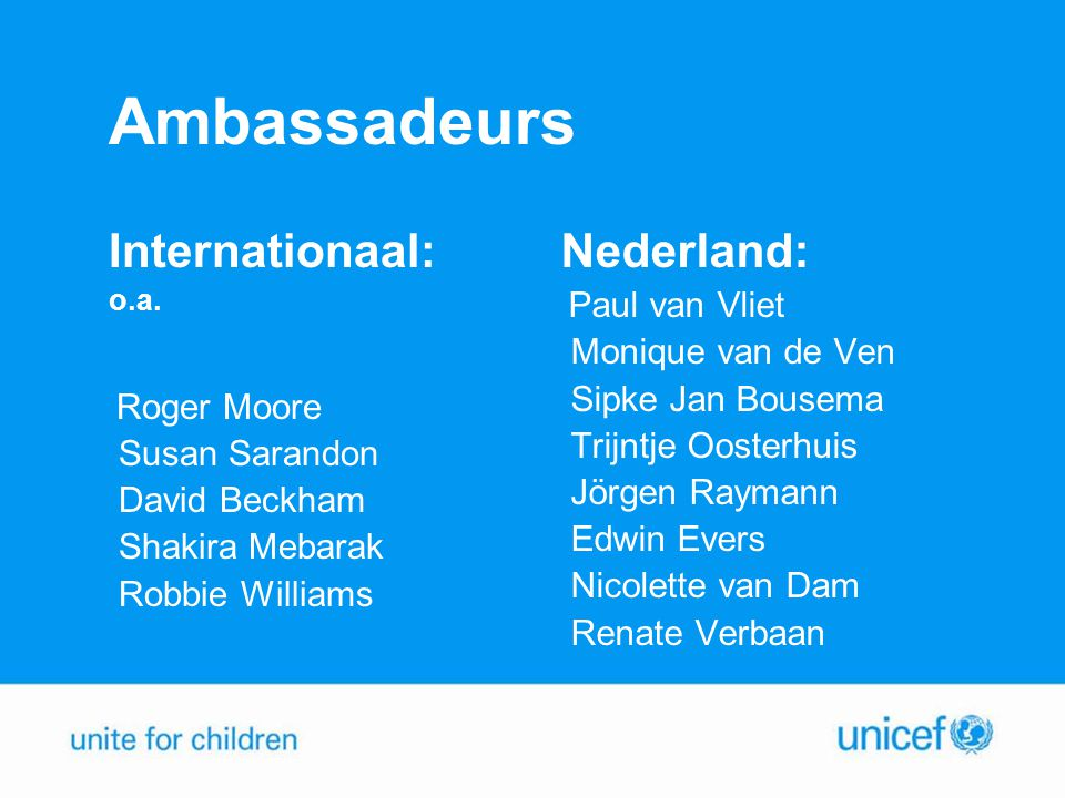 Ambassadeurs Internationaal: Nederland: Monique van de Ven