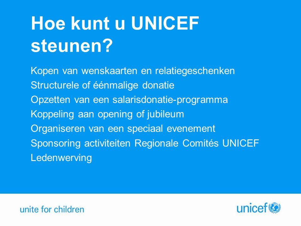 Hoe kunt u UNICEF steunen
