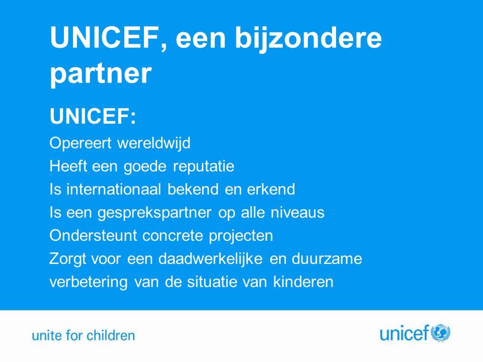 UNICEF, een bijzondere partner