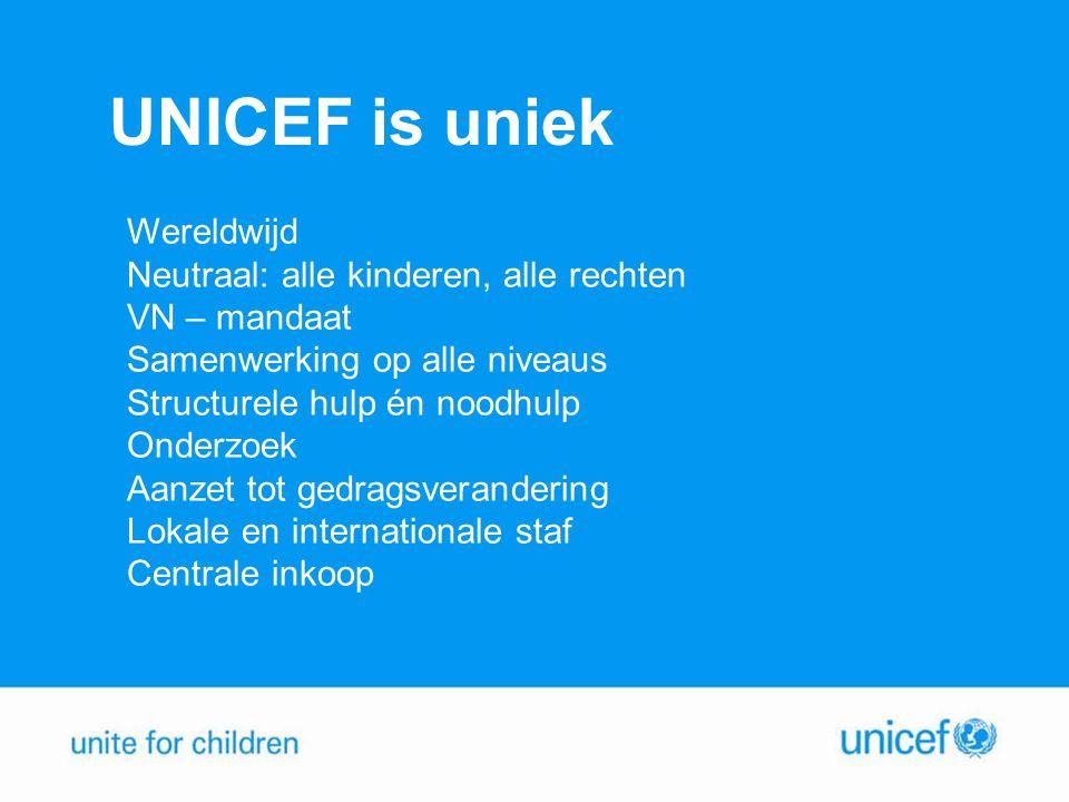 UNICEF is uniek Wereldwijd Neutraal: alle kinderen, alle rechten