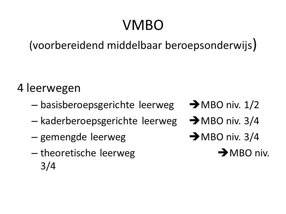 VMBO (voorbereidend middelbaar beroepsonderwijs)