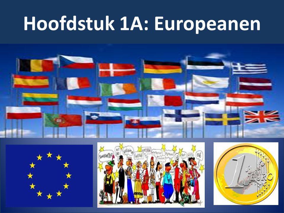 Hoofdstuk 1A: Europeanen