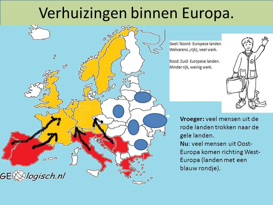 Verhuizingen binnen Europa.