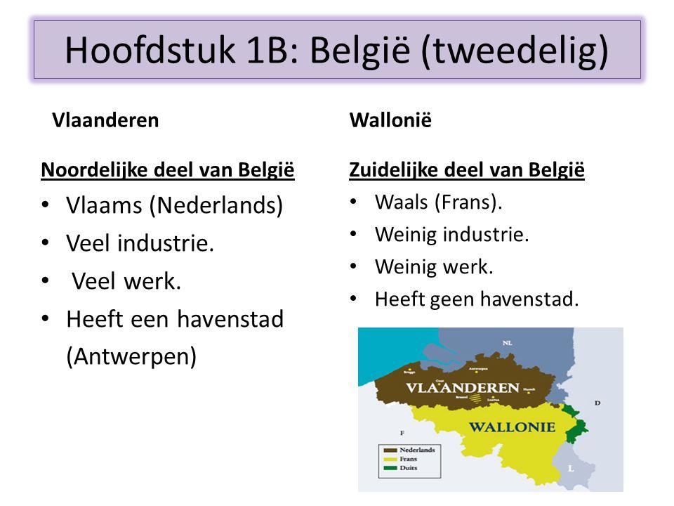 Hoofdstuk 1B: België (tweedelig)
