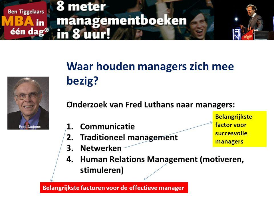 Waar houden managers zich mee bezig