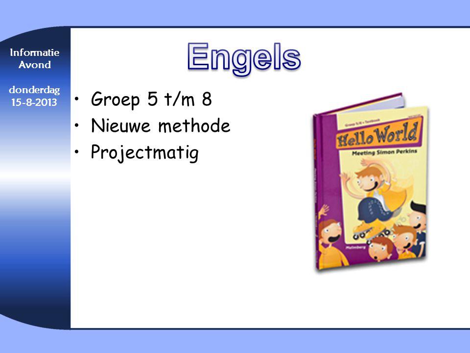Engels Groep 5 t/m 8 Nieuwe methode Projectmatig Informatie Avond