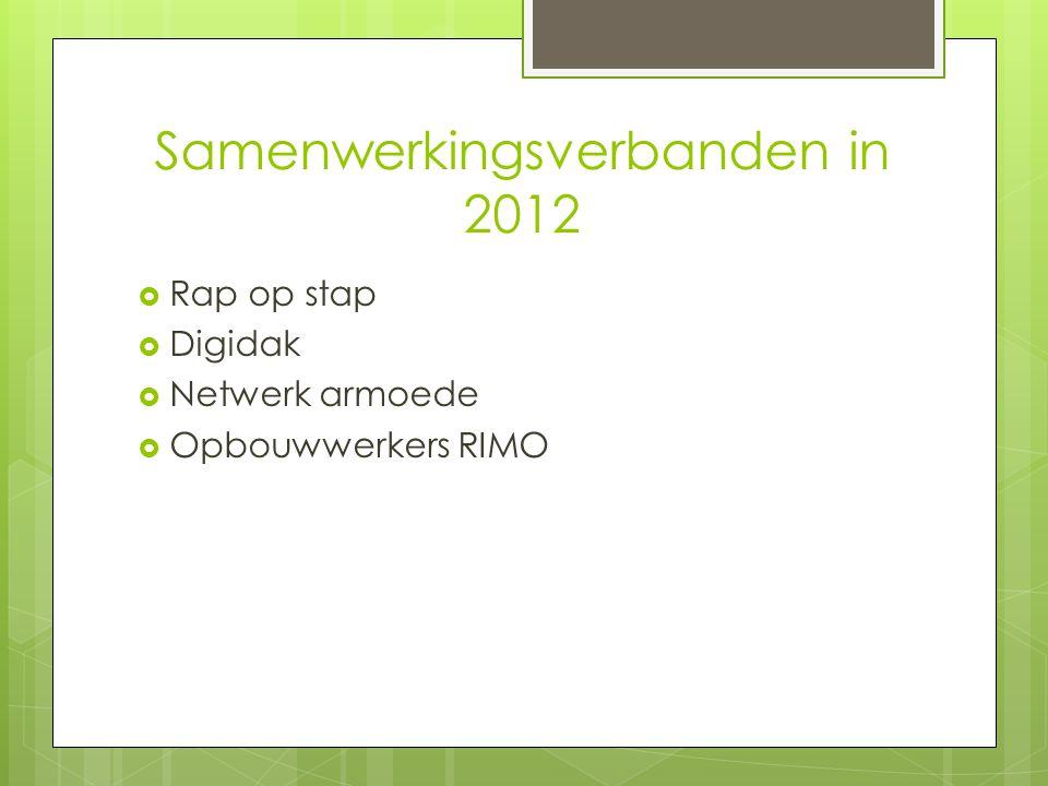 Samenwerkingsverbanden in 2012