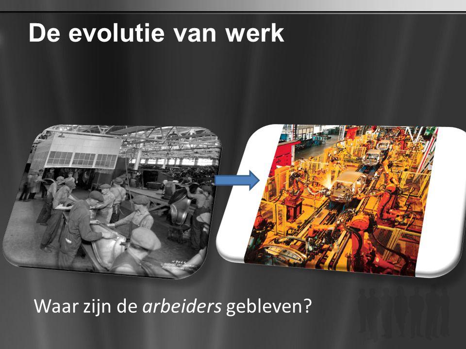De evolutie van werk Waar zijn de arbeiders gebleven