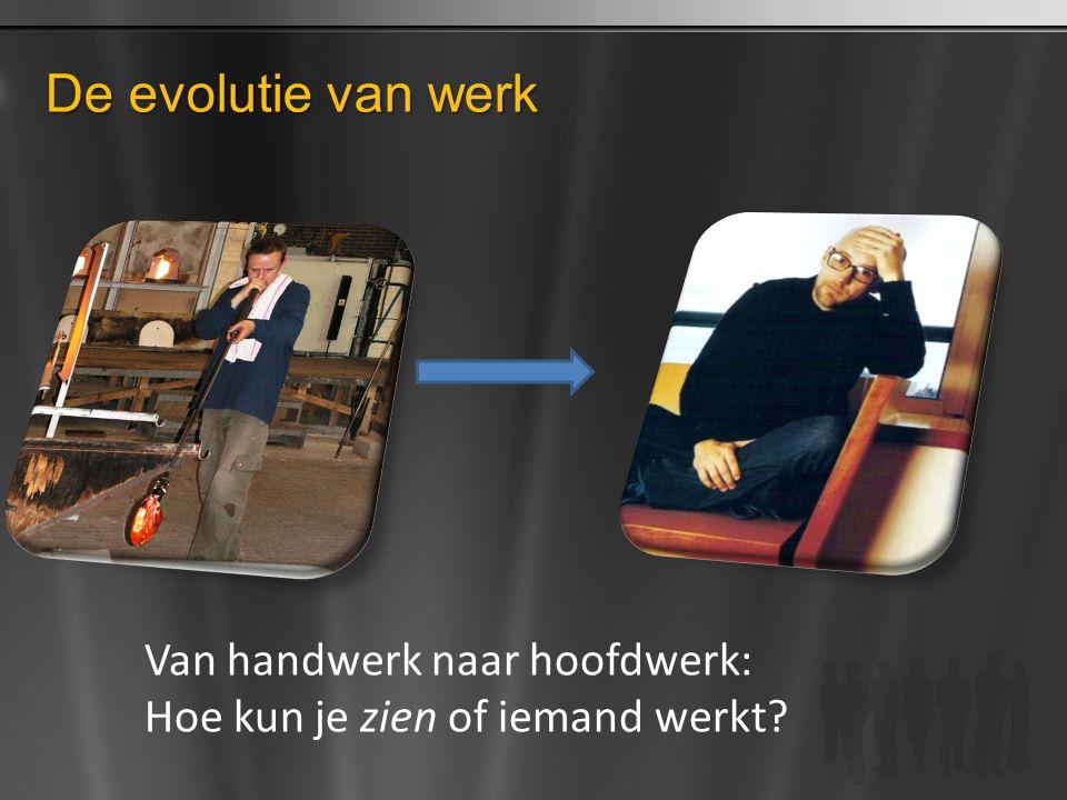 De evolutie van werk Van handwerk naar hoofdwerk: