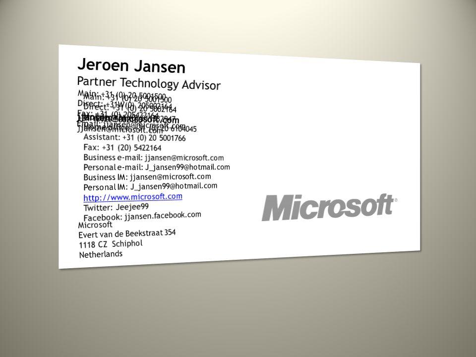 Jeroen Jansen Partner Technology Advisor