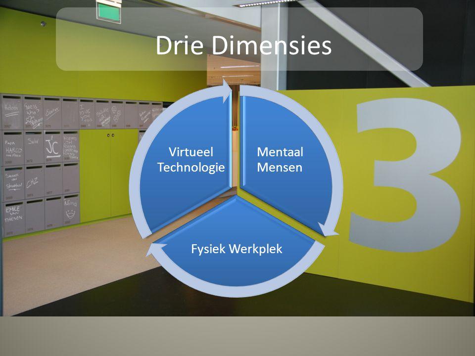 Drie Dimensies Mentaal Mensen Fysiek Werkplek Virtueel Technologie