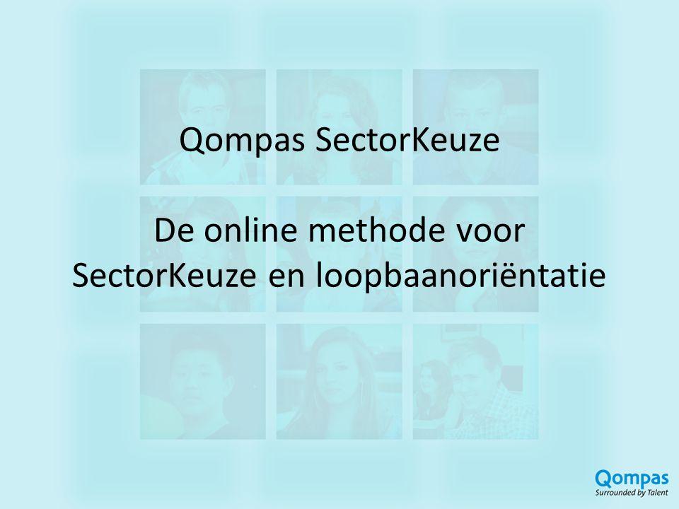 Qompas SectorKeuze De online methode voor SectorKeuze en loopbaanoriëntatie