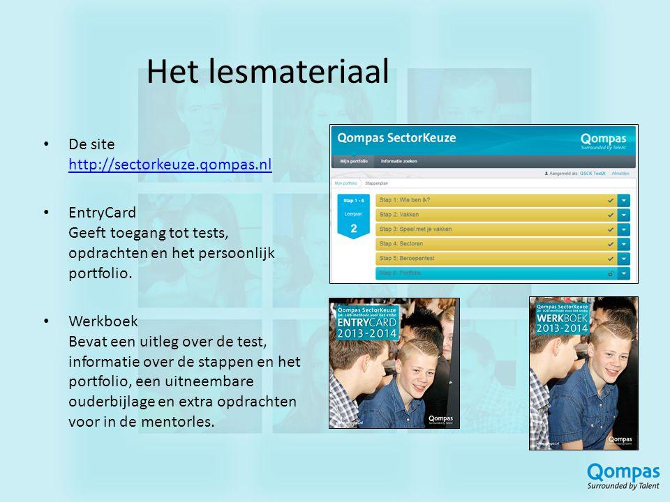 Het lesmateriaal De site http://sectorkeuze.qompas.nl