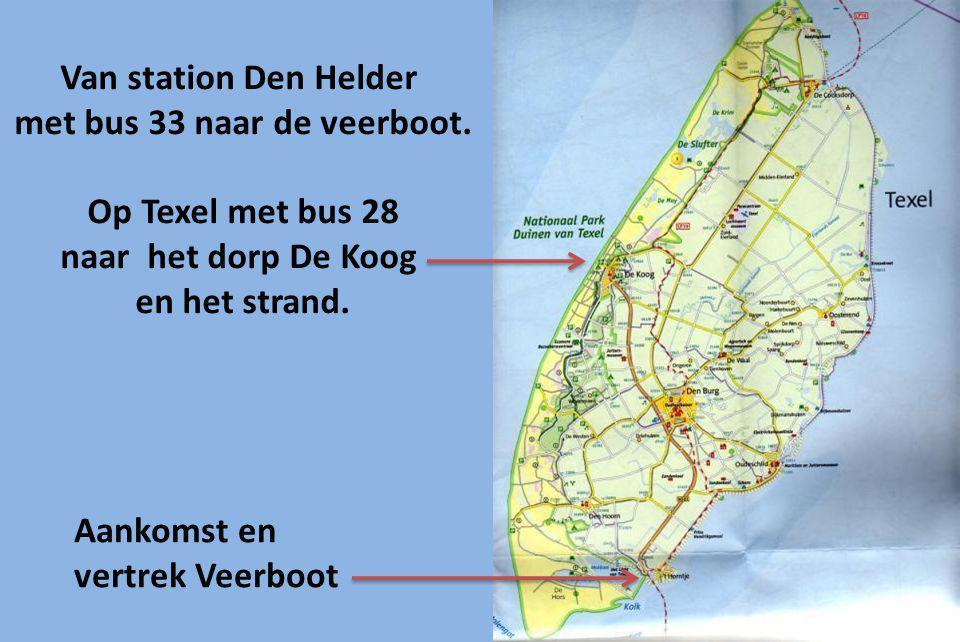 met bus 33 naar de veerboot.