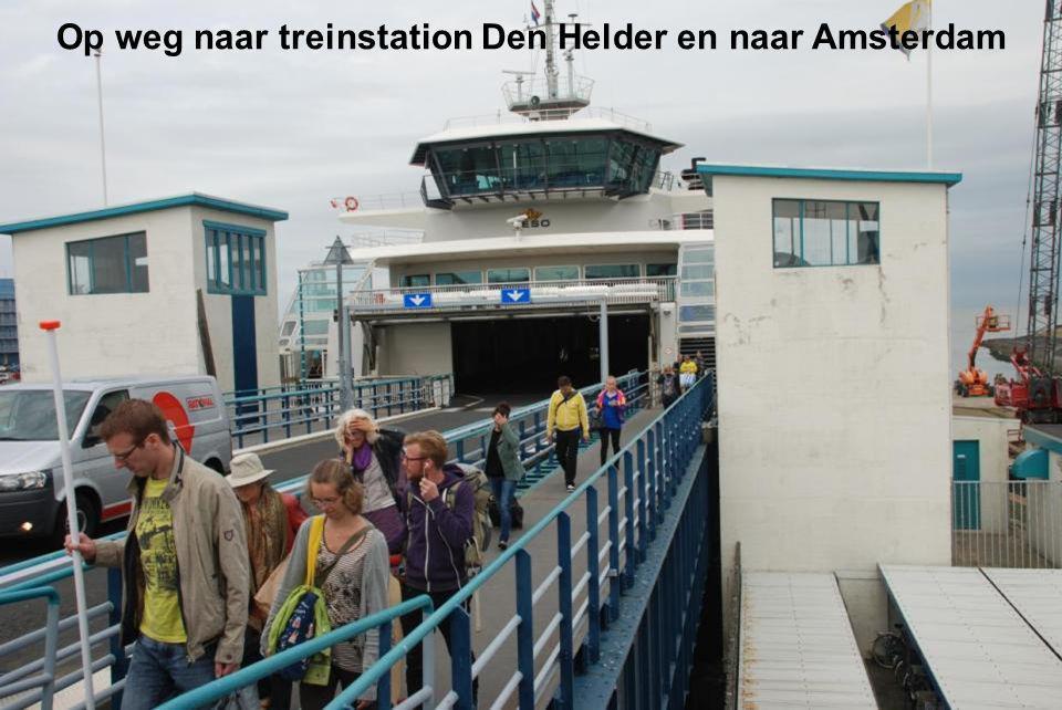 Op weg naar treinstation Den Helder en naar Amsterdam