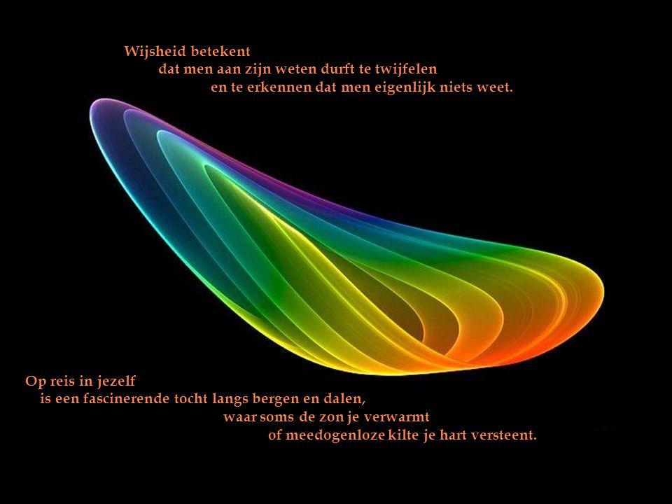 Wijsheid betekent dat men aan zijn weten durft te twijfelen. en te erkennen dat men eigenlijk niets weet.