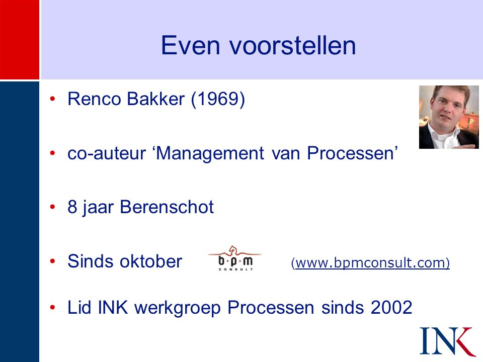 Even voorstellen Renco Bakker (1969)