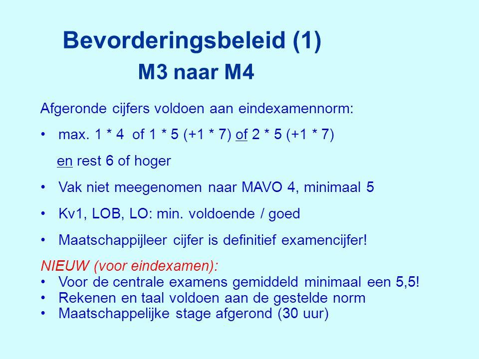 Bevorderingsbeleid (1) M3 naar M4