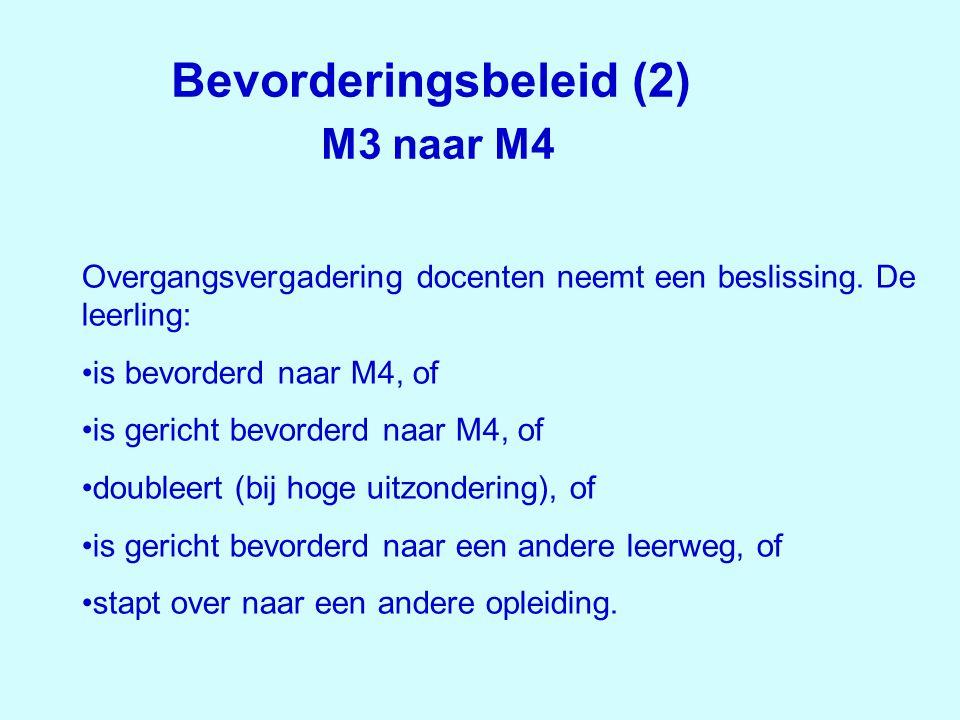 Bevorderingsbeleid (2) M3 naar M4