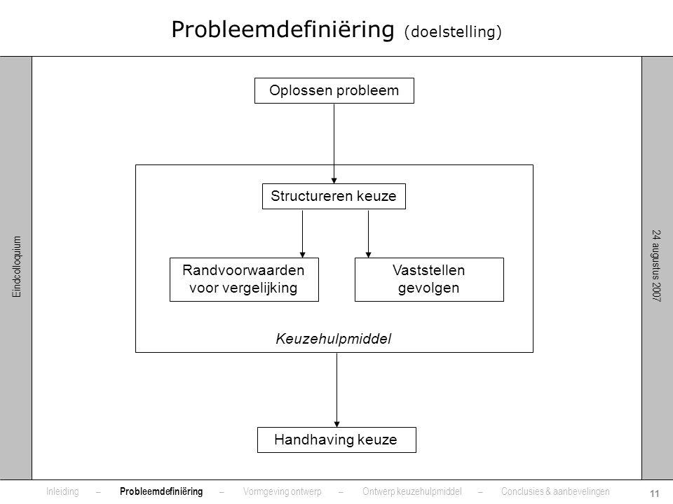 Probleemdefiniëring (doelstelling)