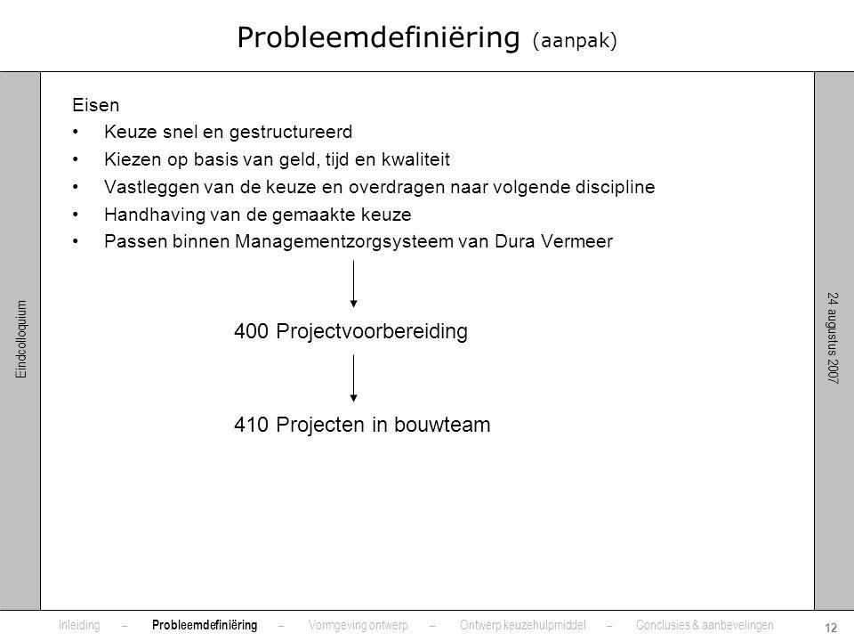 Probleemdefiniëring (aanpak)
