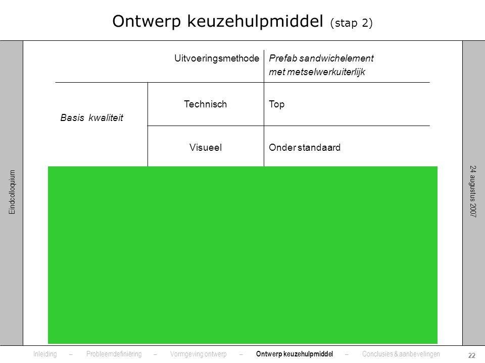 Ontwerp keuzehulpmiddel (stap 2)