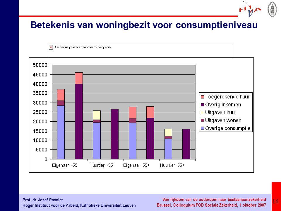 Betekenis van woningbezit voor consumptieniveau