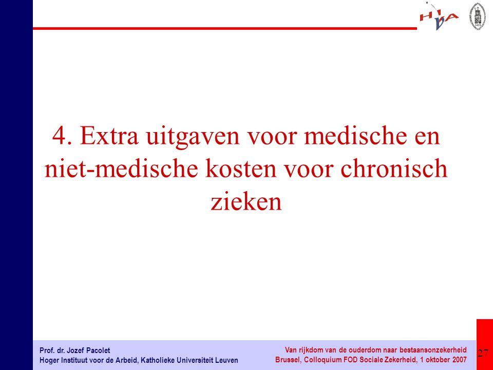 4. Extra uitgaven voor medische en niet-medische kosten voor chronisch zieken